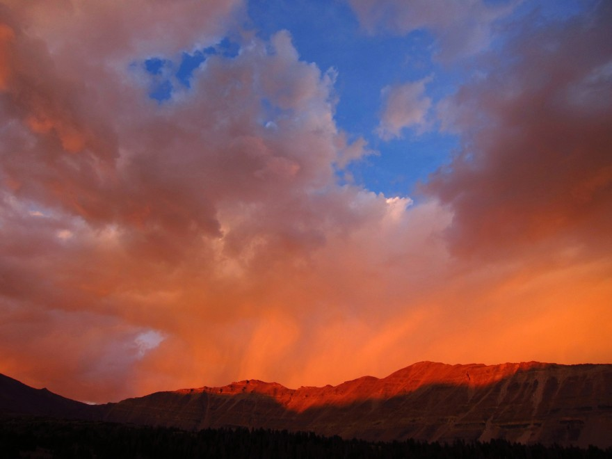 Virga at Sunset | Kings Peak Uinta Mountains